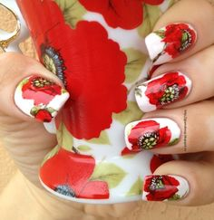 red nail art (6)