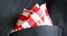 Red Vs. White Pocket Square