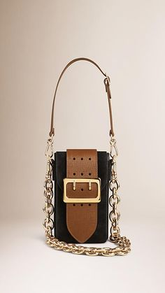 Black The Belt Bag – Oblong in Suede - Image 3