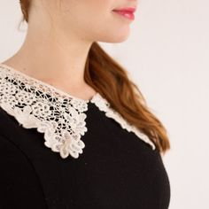 Update your old black dress and add a vintage twist with a cute lace collar