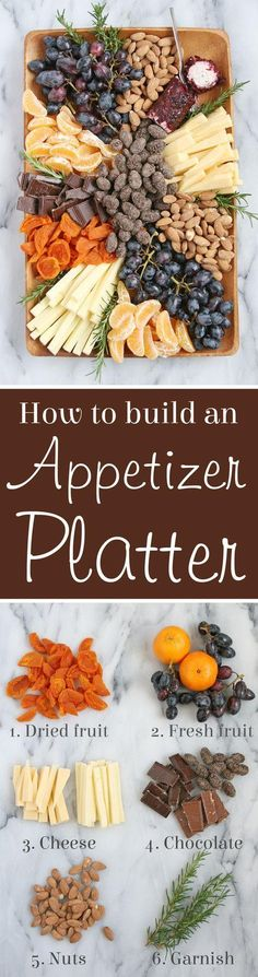 How to build a beautiful gourmet Appetizer Platter!
