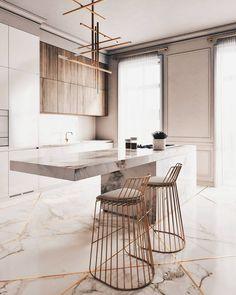 """3,068 curtidas, 8 comentários - ALL OF ARCHITECTURE (@allofarchitecture) no Instagram: """"#allofrenders Via @allofrenders - Beige kitchen Render by @neiman.design #allofarchitecture"""""""