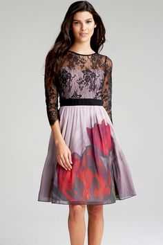 Little Mistress Lace and Print Dress