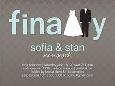 Finally Happening Engagement Party Invitation