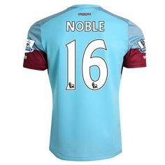 West ham Jersey 2015/16 Away Soccer Shirt #16 NOBLE