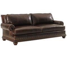 LX-7209-33-01 Lexington Fieldale Lodge Chambers Leather Sofa