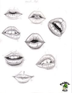 study of lips by paddy852.deviantart.com