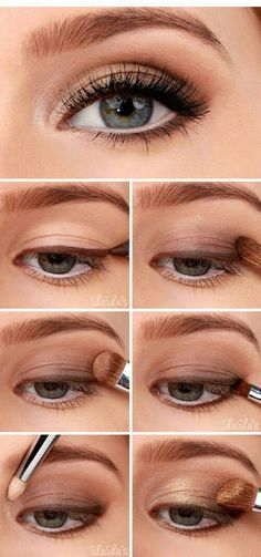 Beautiful makeup for daytime in the fall/autumn, eye makeup that looks put together and gorgeous while still looking work appropriate