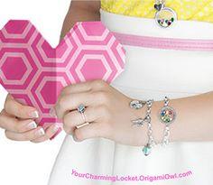 Origami Owl's Founder, Bella, shows off her Link Locket and Dangle Bracelets