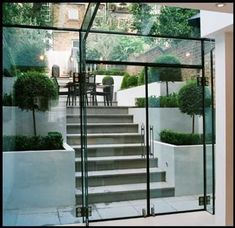 The modern Glass Extension Cellar Conversion, Basement Conversion, Interior Architecture, Interior And Exterior, Basement Entrance, Revit, Mad About The House, Glass Extension, Glass Structure