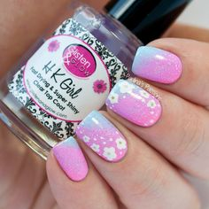 Delicate Floral Nail Art by Paulina's Passions