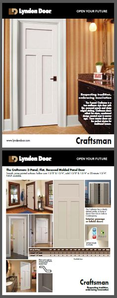 New Craftsman Sell Sheets Available Craftsman Interior Doors, Craftsman Trim, Craftsman Style Homes, Interior And Exterior, August 9, Easy Jobs, Panel Doors, Houzz, Architecture