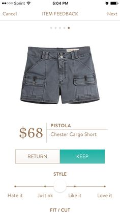 Pistola - Chester Cargo Short, Stitch Fix July 2016