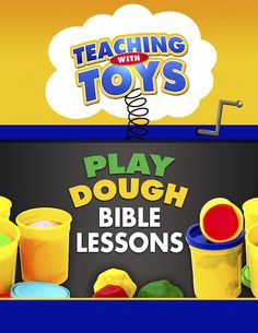 Play Dough Bible Lessons.  Great for Sunday School, VBS, or at home fun!  Includes recipe to make enough play dough for a big group.