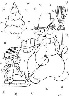 © КЛУБ РУКОДЕЛИЯ ✖✖✖ HANDMADE Coloring Pages Winter, Free Coloring Pages, Coloring Books, Christmas Coloring Sheets, Coloring Sheets For Kids, Christmas Doodles, Christmas Drawing, Christmas Colors, Christmas Crafts