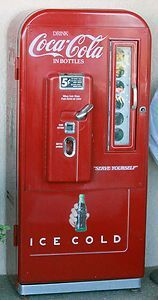 "10/"" ANGLED PEPSI CAP FOR SODA POP VENDING MACHINE COOLER OR GUMBALL"