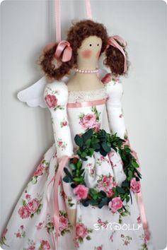 TILDA SHABBY CHIC ROSE - интерьерная кукла Тильда с стиле шебби шик -