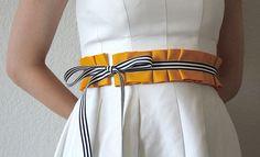 Items similar to Ms.Bennet Nautical Loop Belt - Reversible on Etsy - Reversible loop belt - Fashion Belts, Diy Fashion, Fashion Outfits, Fashion Design, Style Fashion, Diy Ribbon Belt, Sewing Clothes, Diy Clothes, Cinto Obi