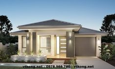 Unsure which Facade you want on your new Clarendon Home? Small Modern House Plans, Modern Small House Design, Beautiful House Plans, House Front Design, Dream House Plans, Clarendon Homes, Morden House, Front House Landscaping, Model House Plan