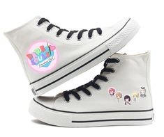 Unisex Doki Doki Literature Club High top Canvas Flat Sneakers sayori  - wearGG