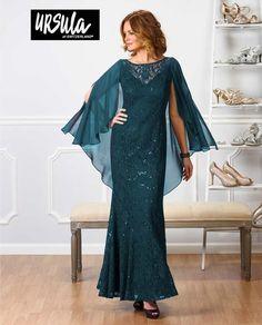 Ursula 31337 Lace Dress With Cape $378
