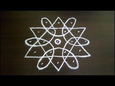 Simple and Small Rangoli Designs with 5 to 3 Dots. SS Rangoli - Video No 205 Simple Rangoli Designs Images, Rangoli Designs Latest, Rangoli Border Designs, Rangoli Patterns, Rangoli Ideas, Rangoli Designs Diwali, Rangoli Designs With Dots, Kolam Rangoli, Rangoli With Dots