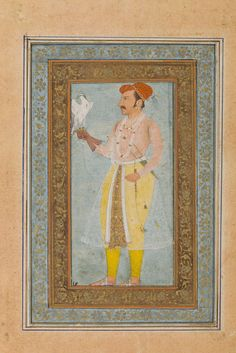 Jahangir with a Peregrine Falcon North India, Mughal, mid century Sufi Saints, Indian Artwork, Peregrine Falcon, North India, India Art, 17th Century, Emperor, Persian, Auction