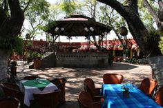 San Pedro Tlaquepaque, Jalisco. Tlaquepaque is internationally known for its different pottery styles.