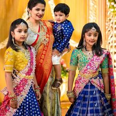 Some Uber Cute Kids Outfits And Where To Buy Them Lengha Blouse Designs, Half Saree Designs, Half Saree Lehenga, Kids Lehenga, Mother Daughter Fashion, Kids Dress Patterns, Indian Gowns Dresses, Cute Outfits For Kids, Baby Girl Dresses