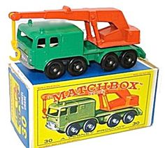 1960s Matchbox No 30 8-Wheel Crane in Box