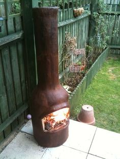 DIY Outdoor fire place (Chimenea) from ferrocement - instructables