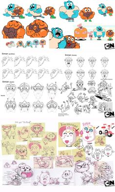 Poses and various concept art from The Amazing World of Gumball! Belongs to CN, Ben Bocquelet,etc! The Amazing World of Gumball Concept Art 2 Character Model Sheet, Character Concept, Character Art, Android Jones, Anna Cattish, Wall E, Samurai Jack, The Pirates, Concept Art Tutorial