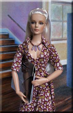 Sydney Models the Wrap Dress - NWS