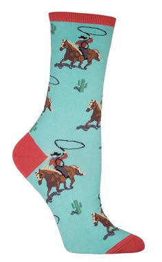If you feel like you should have been a cowboy, or like you should have learned to rope and ride… let your cool new socks just do it for you. Choose from tan, mist or grey and watch your feet buck wit Cute Socks, My Socks, Awesome Socks, Country Girl Style, Country Girls, My Style, Sock Hop, Sock Animals, Crazy Socks