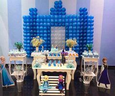 Festa Frozen Idéias de festa Frozen  Frozen uma aventura congelante  Festa de menina