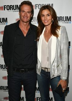 They have been by their side all along: Clooney pals Rande Gerber and Cindy Crawford, pictured in January, were with the newly engaged couple on April 27 in Santa Barbara