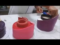 the best way for prepare decoration chocolate pastry - YouTube