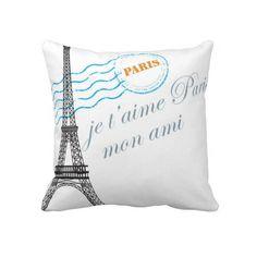 I love Paris decorator pillow