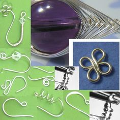 Jewelry Tutorial Earwires and Basics -Make 8 different earwires - 4 ring connector loop -  herringbone weave and wrapped loops retail from Etsy store JewelryonPicadilly