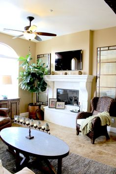 Awesome Living Room Interior Design By Erica Gomez. Furniture Provided By Habitat  Home U0026 Garden.
