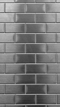 Metal Bricks - #Cielo #Fondosdepantallasamsung #Fondostexturas #Pantalladeinicioparasamsung Brick Wall Wallpaper, Framed Wallpaper, Pastel Wallpaper, Screen Wallpaper, Mobile Wallpaper, Wallpaper Backgrounds, Neon Backgrounds, Aesthetic Iphone Wallpaper, Aesthetic Wallpapers