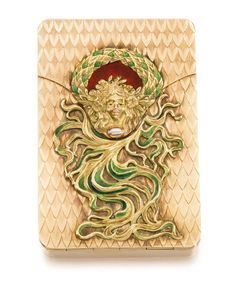 A JEWELLEDGOLD AND ENAMEL CIGARETTE CASE, BOLIN, WORKMASTER KONSTANTIN LINKE, MOSCOW, 1899-1908