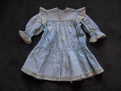 Robe poupée ancienne Jumeau SFBJ Steiner Kestner halbig antique doll dress