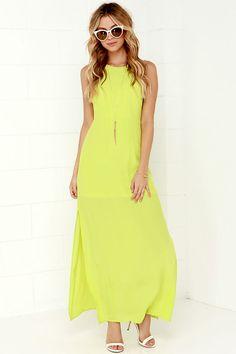 Mayan Empress Chartreuse Maxi Dress at Lulus.com!
