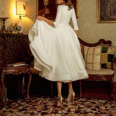 Civil Wedding Dresses, White Wedding Dresses, Designer Wedding Dresses, Vintage Dresses Online, Elegant, Aesthetic Clothes, Dress To Impress, Dress Outfits, Ball Gowns