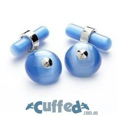 Not sure what to give a man who already has everything? This rhodium-plated oracle blue cufflinks will be a great addition to his growing collection of cufflinks. A pop of blue will delight your loved one's day at the office all year long. Holiday Gift Guide, Holiday Gifts, Gift Guide For Him, Cufflinks, Pop, Blue, Accessories, Collection, Popular