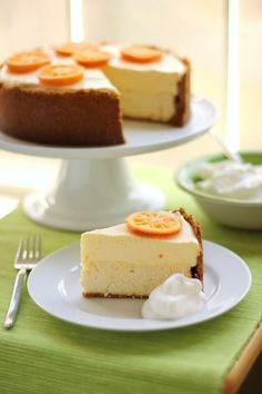 Clementine Mousse Cheesecake - Willow Bird Baking