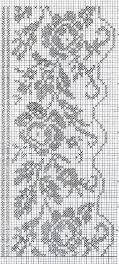 cenefas para cortinas a crochet esquemas - Buscar con Google
