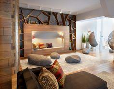 Concept of interior penthouse, Russia, Novosibirsk 2013