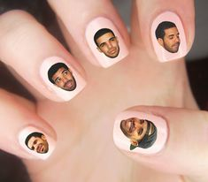 Oh-so-handsome nail decals.